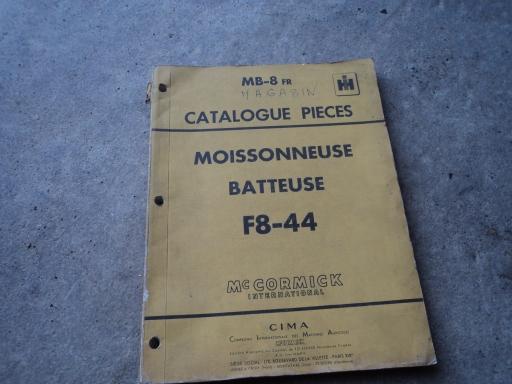 manuel pièces detachées moiss batt F8-44
