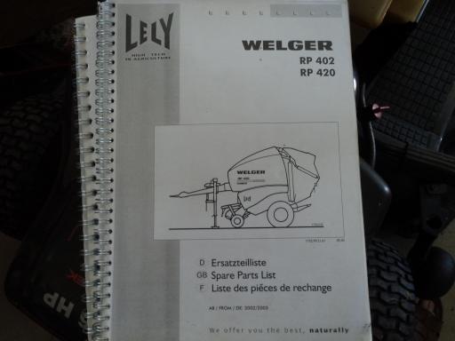manuel pieces round baller WELGER RP 402 / 420