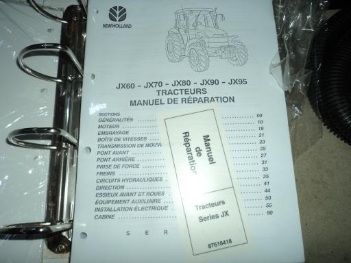 manuel reparation tracteur CASE IH  JX