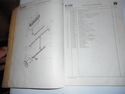 manuel pieces tracteur IH D.324