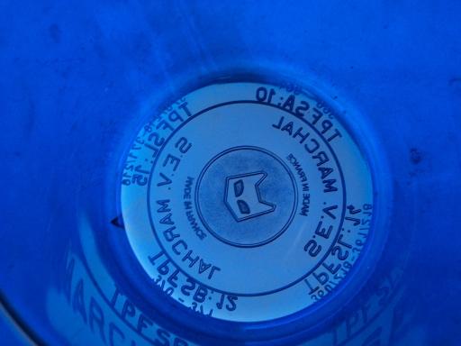 cabochon girophare bleu