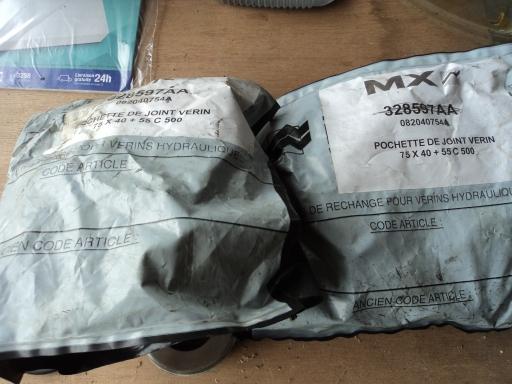 2 pochettes joints verins MAILLEUX