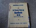 manuel utilisation presse BAMFORDS BL30