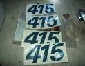 4 autocollants 415