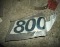 """2 autocollantspour FIAT """"800"""""""