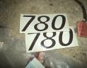 2 autocollants pour FIAT 780